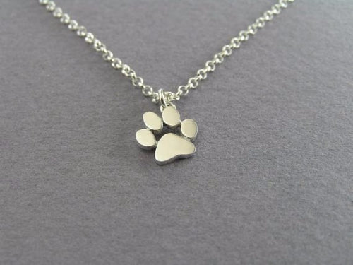 New Choker Necklace with Cat or Dog Paw Print Pendant - AccessorTees
