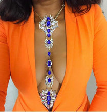 Hot New Fashion Jewelry Long Collar Crystal Body Chain