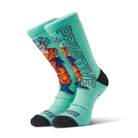 Primitive x Dragon Ball Super: SSG Goku Socks (Teal)