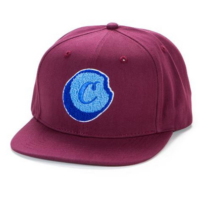 Cookies Flip The Script Snapback with Chenille Applique (Burgundy)