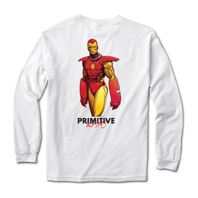 Primitive: Marvel x Moebius- Iron Man Long sleeve T-shirt (White)