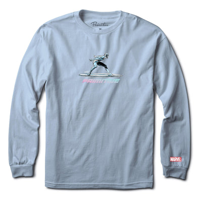Primitive: Marvel x Moebius- Silver Surfer Long sleeve T-shirt (Powder Blue)