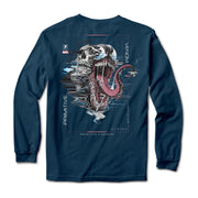 Primitive x Marvel x Paul Jackson - Venom LS Tee (Harbor Blue)