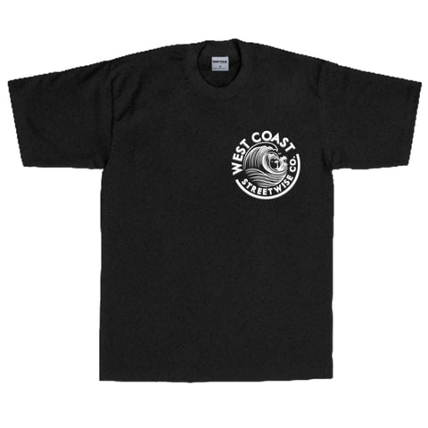 Streetwise Wave Coast T-Shirt (Black)