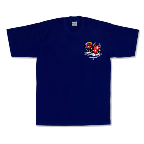 Streetwise Life's A Risk T-shirt (Navy)