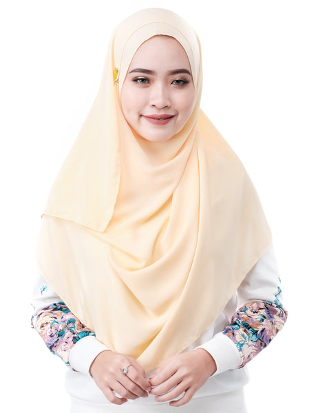 Mariqa Basic in Daffodil by Thiirty8. The Reversible Instant Shawl. Made of Korean Crepe.