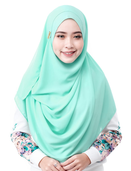 Mariqa Basic in Mint by Thiirty8. The Reversible Instant Shawl. Made of Korean Crepe.