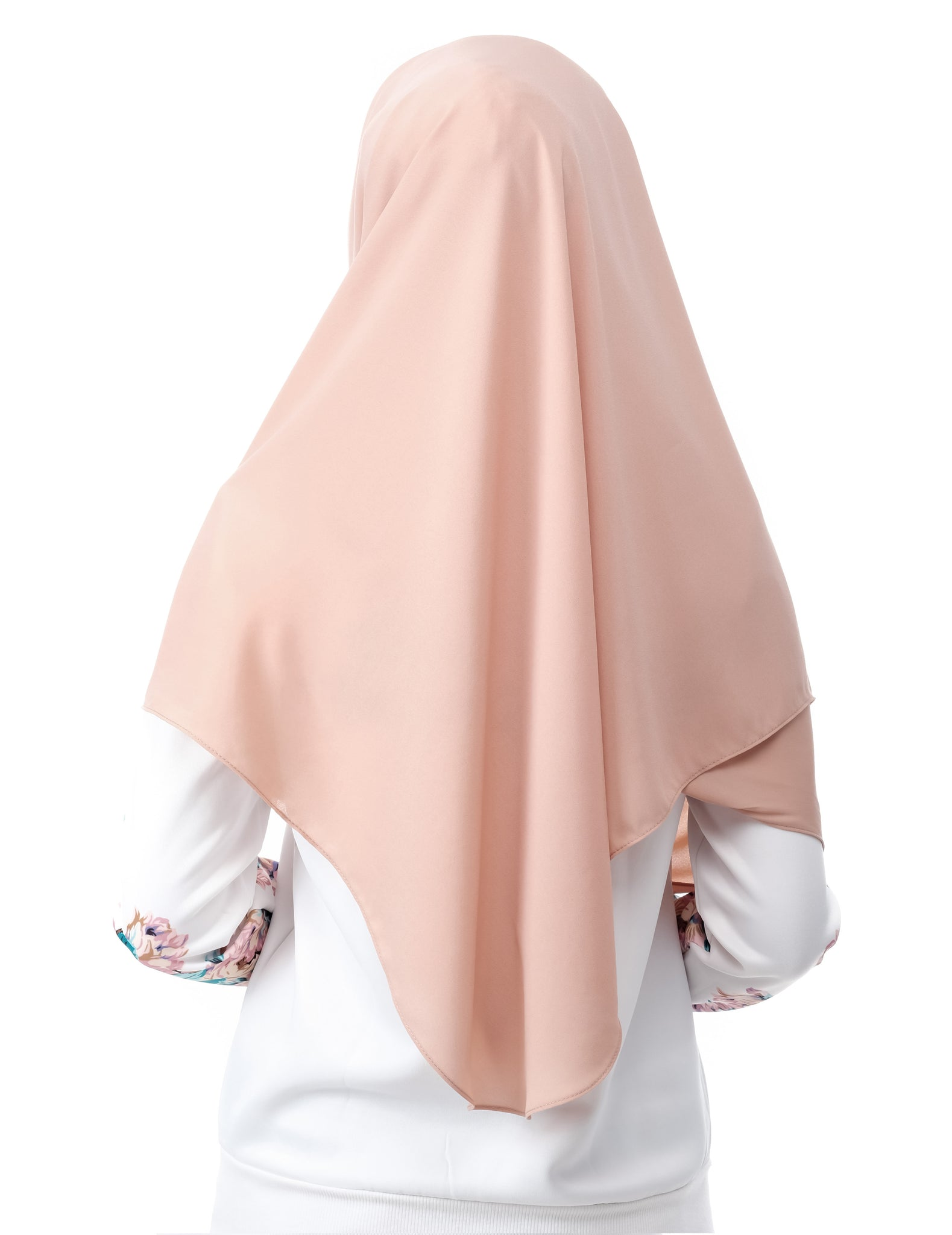 Mariqa Basic in Tan by Thiirty8. The Reversible Instant Shawl. Made of Korean Crepe.