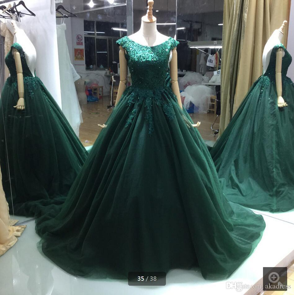fb9d5268b91 New Arrival Deep V backless Emerald Green Ball Gown Long Prom Dress ...