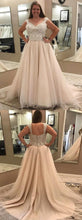 2019 Plus Size Cap Sleeves Wedding Dress with Delicate Lace Beading Top ,GDC1137