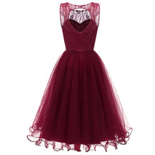 Shop Maroon Retro Modest Navy Lace Tulle Dress Short Homecoming Dress, 074B