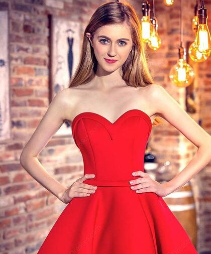 c7e8881f13 ... 2019 Red Sweetheart High Low Homecoming Dress Prom Dress for Freshman