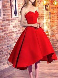 2019 Red Sweetheart High Low Homecoming Dress/Prom Dress for Freshman,#711061