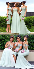 Stylish Sage Green Mismatched Bridesmaid Dresses,Different Style Bridesmaid Dresses,711086