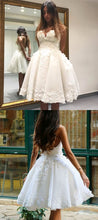 Romantic Strapless Short Wedding Dress,Wedding Gown Short  A Line with Delicate Floral,711089