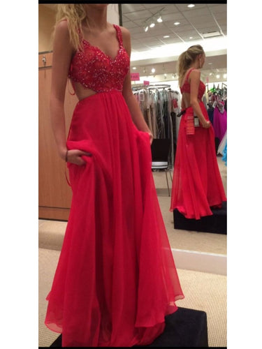 Backless Red Prom Dress For Juniors Freshmen Homecoming Dress MA157-Dolly Gown