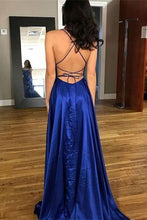 Backless Spaghetti Straps Flowy Prom Dress with Slits,Simple Prom Formal Dress,20081609
