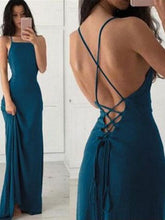 Backless Teal Green Simple Prom Dress For Teens,GDC1285