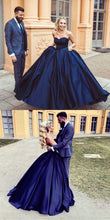 Ball Gown Sweetheart Navy Blue Simple Wedding Dress,GDC1211-Dolly Gown