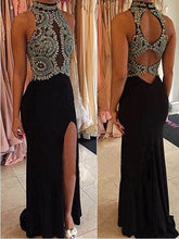 Black Prom Dress Long Prom Dress 2021 Side Slit Prom Dress for Curvy Girl,MA035-Dolly Gown