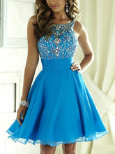 Blue Prom Dress,Short Prom Dress,Short Homecoming Dress,Sweet 16 Dress,MA063