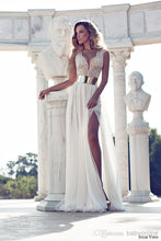 Boho Chiffon Flowy Wedding Dress,Summer Beach Wedding Dress,GDC1191-Dolly Gown