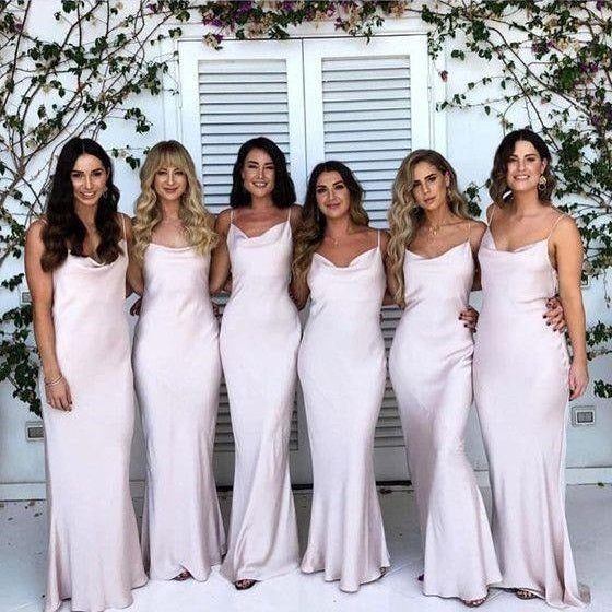 Boho Summer Sheath Simple Long Bridesmaid Dresses,Wedding Party Dress,GDC1120