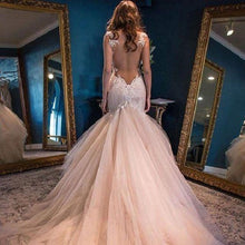 Breathtaking Princess Backless Country Lace Tulle Wedding Dress,GDC1100