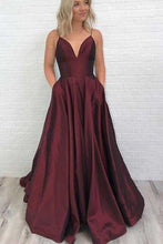 Burgundy Backless Graduation Prom Dress with Pockets, GDC1049-Dolly Gown