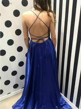 Cheap Backless Simple Long Evening Dress,Royal Blue Prom Dress,GDC1104-Dolly Gown
