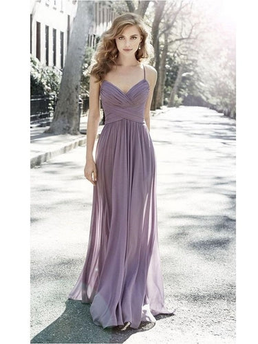 Chiffon Lilac Bridesmaid Dresses,Long Bridesmaid Dresses,Wedding Party Dress,GDC1165-Dolly Gown