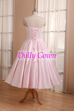 Pink Short Vintage Bridesmaid Dresses with Spaghetti Straps 50s style bridesmaid dresses 20081102-Dolly Gown