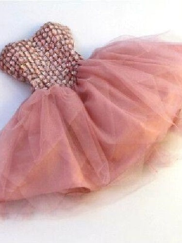 Dusty Pink Short Prom Dress For Teens 2021 Prom Dress Special Occasion Dress Peach Prom Dress MA139-Dolly Gown