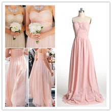 Blush  Pink Bridesmaid Dresses Strapless Bridesmaid Dresses Rustic Bridesmaid Dresses Fs004-Dolly Gown