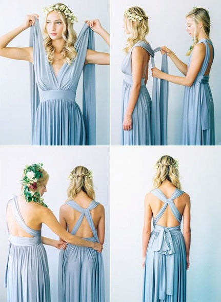 Convertible Bridesmaid Dresses,Blue Bridesmaid Dresses,Long Bridesmaid Dresses,Infinite Bridesmaid Dresses,Fs007