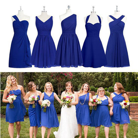 Short Bridesmaid Dresses,Mismatched