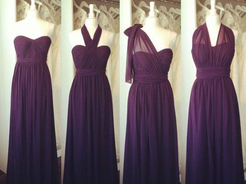 Purple Bridesmaid Dresses,Eggplant Bridesmaid Dresses,Mixed Bridesmaid Dresses,Mismatched Bridesmaid Dresses,Fs011-Dolly Gown