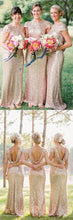 Long Bridesmaid Dresses,Sequins Bridesmaid Dresses,Champagne Bridesmaid Dresses,Robe Demoiselle D'Honneur,Fs013