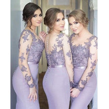 Bridesmaid Dresses with Sleeves, Lavender Bridesmaid Dresses,Mermaid Bridesmaid Dresses,Robe De Demoiselle D'Honneur,FS044-Dolly Gown