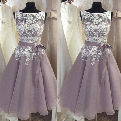 Tea Length Bridesmaid Dresses,1950's Bridesmaid Dresses,Short Bridesmaid Dresses,High Neck Bridesmaid Dresses,FS048