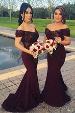 Bridesmaid Dresses Burgundy,Burgundy Bridesmaid Dresses,Mermaid Bridesmaid Dresses,Long Bridesmaid Dresses,FS065
