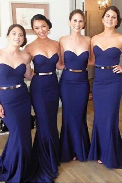 Long Bridesmaid Dresses,Navy Blue Bridesmaid Dresses,Simple Bridesmaid Dresses,Mermaid Bridesmaid Dresses,Brautjungfernkleider,FS067