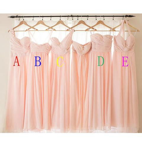 Pink Bridesmaid Dresses,Bridesmaid Dresses Pink,Rose Pink Bridesmaid dresses,Long Bridesmaid Dresses,Bridesmaid Dresses Mismatched,FS077