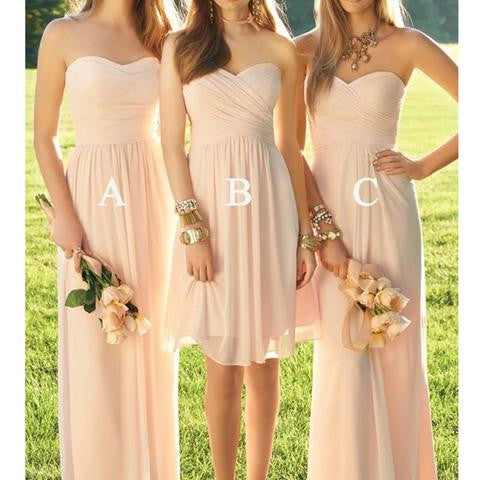 Country Mixed Blush Pink Junior Bridesmaid Dresses,FS078