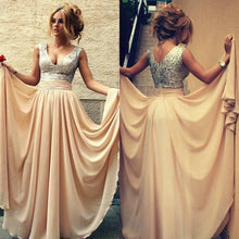 Bridesmaid Dresses Champagne,Bridesmaid Dresses Long,Sequins Top Bridesmaid Dresses,Cheap Bridesmaid Dresses,FS086