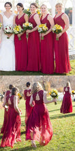 Rustic Maroon Lace Top Plus Size Bridesmaid Dresses, FS087