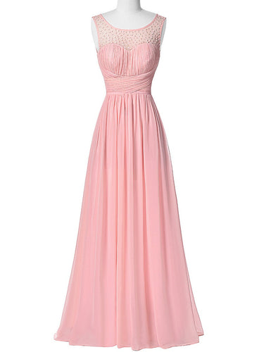 Pink Bridesmaid Dresses,Cheap Bridesmaid Dresses, Unique Bridesmaid Dress, Robe De Demoiselle D'Honneur Rose,FS096