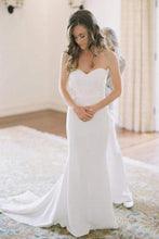 Fall Fit and Flare Sweetheart Country Wedding Dress with Court Train,GDC1275
