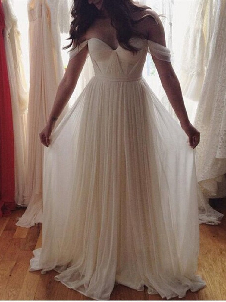 Flowy Wedding Dress,Tulle Wedding Dress, Boho Wedding Dress,Romantic Wedding Dress,WS048-Dolly Gown