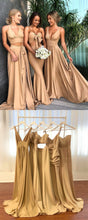 Gold Long Mismatched Bridesmaid Dresses,Fall Bridesmaid Dresses,GDC1212